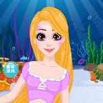 Mermaid Rapunzel Makeup
